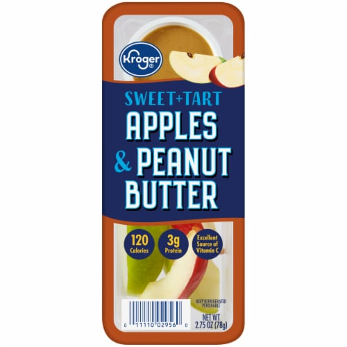 Kroger® Apples & Peanut Butter Snack Tray Perspective: front