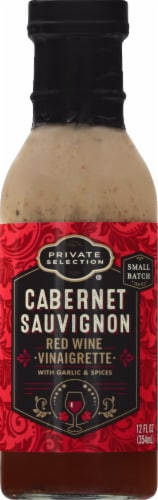Private Selection® Cabernet Sauvignon Red Wine Vinaigrette Dressing Perspective: front