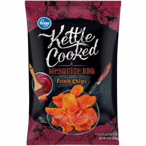 Kroger® Kettle Cooked Mesquite BBQ Potato Chips Perspective: front