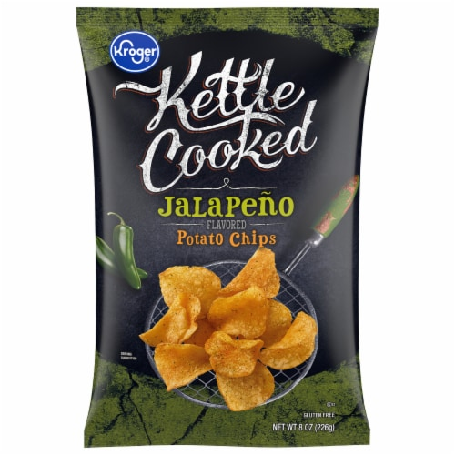Kroger® Kettle Cooked Jalapeno Flavored Potato Chips Perspective: front
