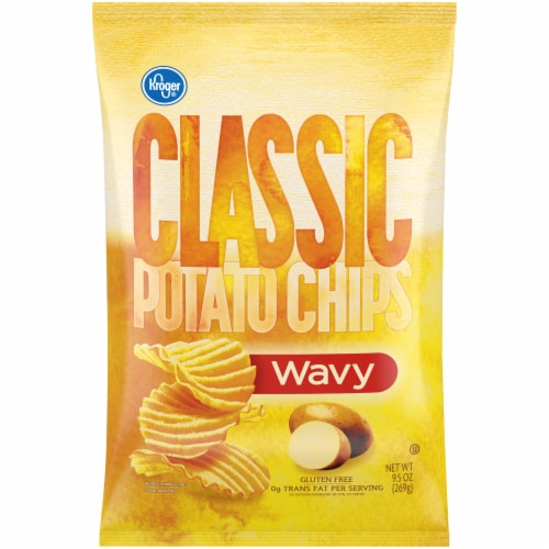 Kroger® Classic Wavy Potato Chips Perspective: front