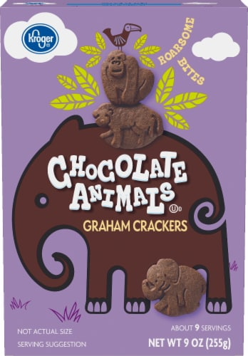 Kroger® Chocolate Animals Graham Crackers Perspective: front