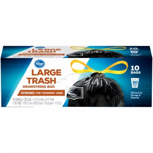 Kroger®  Large 30 Gal Trash Drawstring Bag Perspective: front
