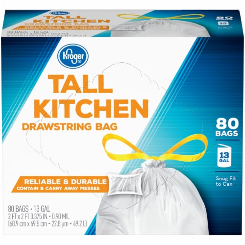 Kroger® Tall Kitchen Drawstring Bags Perspective: front