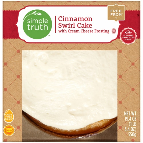 Simple Truth™ Cinnamon Swirl Cake with Cream Cheese Frosting Perspective: front