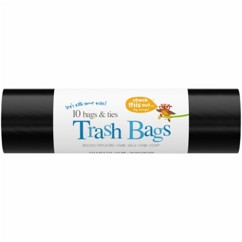 Check This Out™ 30-Gallon Black Trash Bags Perspective: front