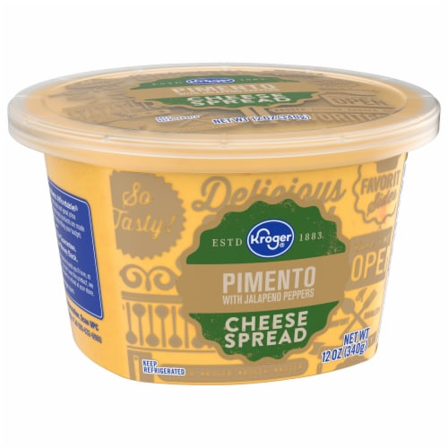 Kroger®  Pimento with Jalapeno Peppers Cheese Spread Perspective: front