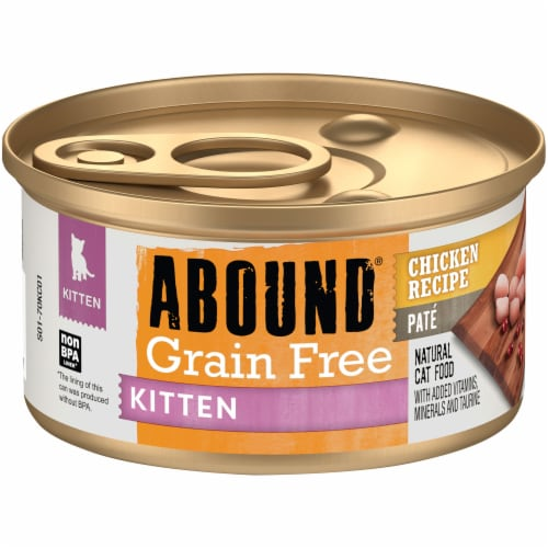 Abound® Grain Free Chicken Recipe Pate Kitten Food Perspective: front