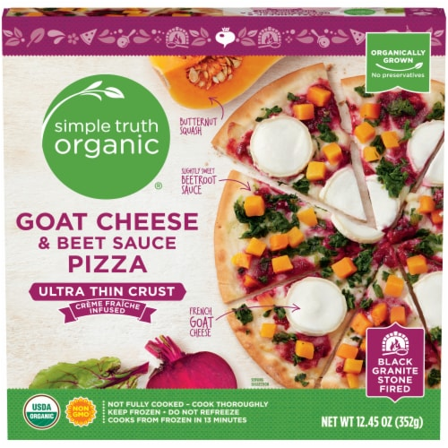 Simple Truth Organic® Goat Cheese & Beet Sauce Ultra-Thin Crust Pizza Perspective: front