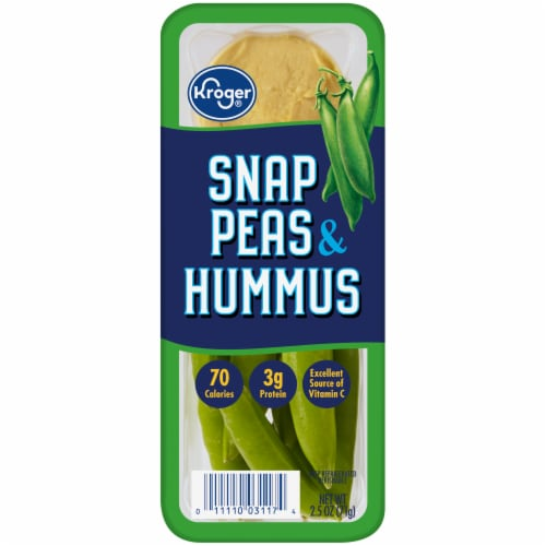Kroger® Snap Peas & Hummus Snack Tray Perspective: front