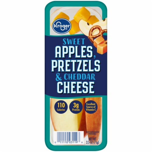 Kroger® Sweet Apples Pretzels & Cheddar Cheese Snack Tray Perspective: front
