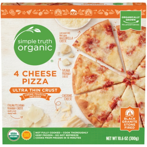 Simple Truth Organic® 4 Cheese Ultra-Thin Crust Pizza Perspective: front