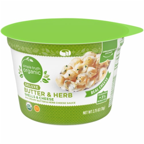 Simple Truth Organic™ Deluxe Butter & Herb Shells & Cheese Cup Perspective: front