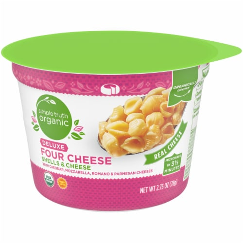 Simple Truth Organic® Deluxe Four Cheese Shells & Cheese Cup Perspective: front