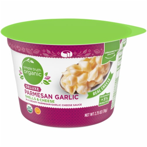 Simple Truth Organic® Deluxe Parmesan Garlic Shells & Cheese Cup Perspective: front