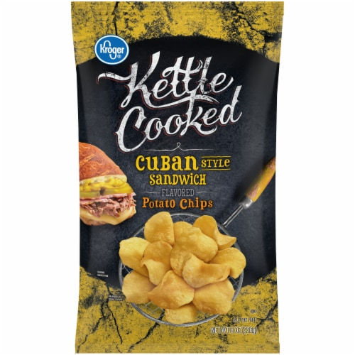Kroger® Kettle Cooked Cuban Style Sandwich Flavored Potato Chips Perspective: front
