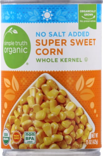 Simple Truth Organic® No Salt Added Super Sweet Whole Kernel Corn Perspective: front