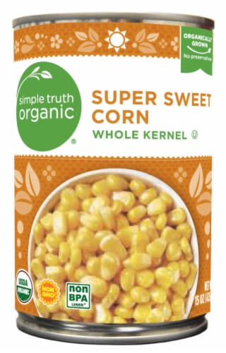 Simple Truth Organic® Super Sweet Whole Kernel Corn Perspective: front