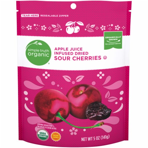 Simple Truth Organic™ Apple Juice Infused Dried Sour Cherries Perspective: front