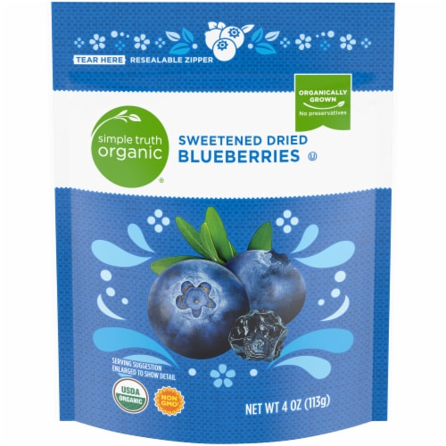 Simple Truth Organic® Sweetened Dried Blueberries Pouch Perspective: front