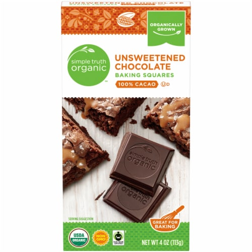Simple Truth Organic™ Unsweetened Chocolate Baking Squares Perspective: front