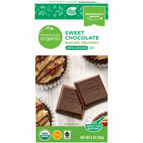 Simple Truth Organic™ Sweet Chocolate Baking Squares Box Perspective: front