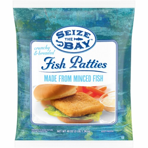 Seize the Bay Fish Patties Perspective: front