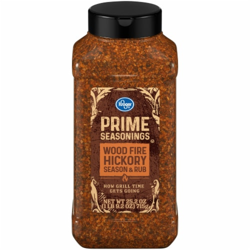 Kroger® Prime Seasonings Wood Fire Hickory Season & Rub Perspective: front
