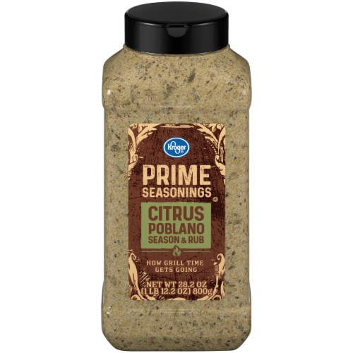 Kroger® Prime Seasonings Citrus Poblano Season & Rub Perspective: front