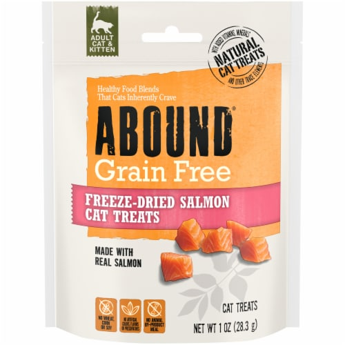 Abound® Grain Free Freeze-Dried Salmon Cat Treats Perspective: front