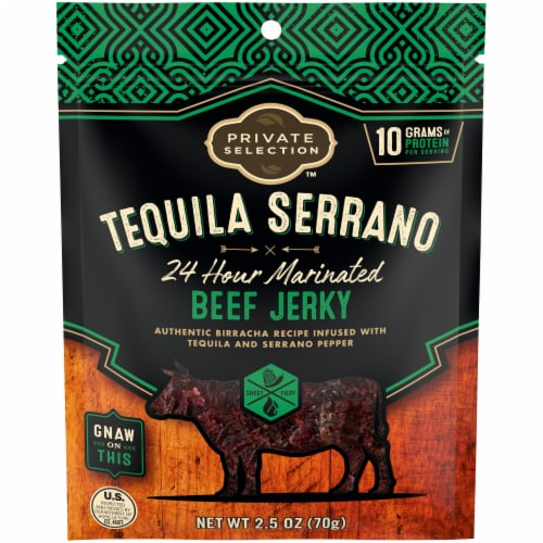 Private Selection™ Tequila Serrano Beef 24 Hour Marinated Jerky Perspective: front