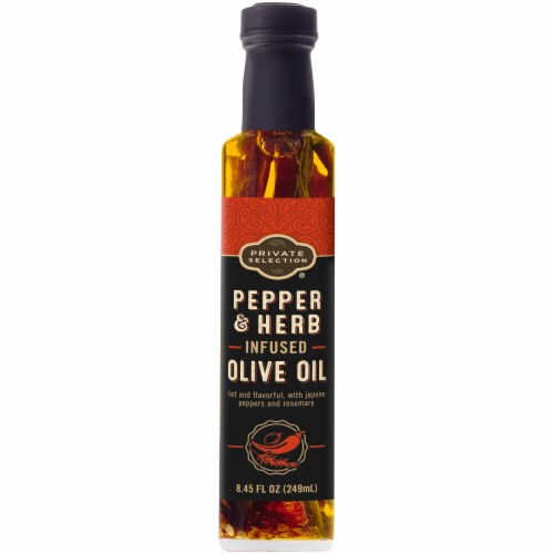 Private Selection® Pepper & Herb Infused Olive Oil Perspective: front