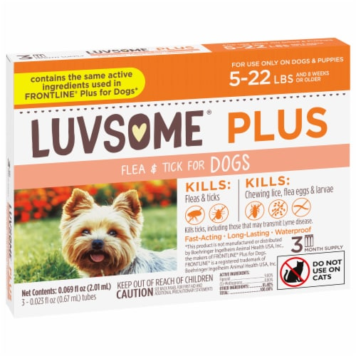 Luvsome Plus Flea & Tick Dog 5-22 lbs Perspective: front