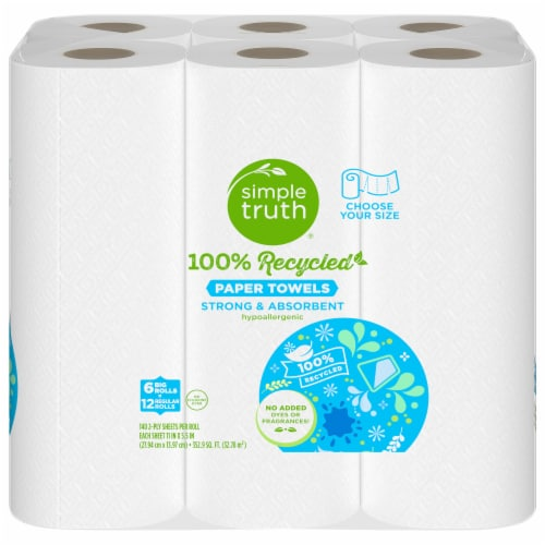 Simple Truth™100% Recycled Paper Towels Perspective: front