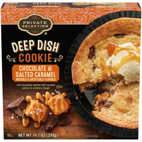 Private Selection™ Chocolate & Salted Caramel Deep Dish Cookie Perspective: front