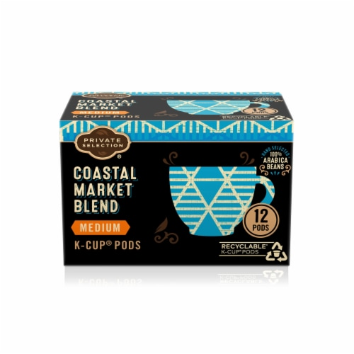 Private Selection® Coastal Market Blend Medium Roast Coffee K-Cup® Pods Perspective: front