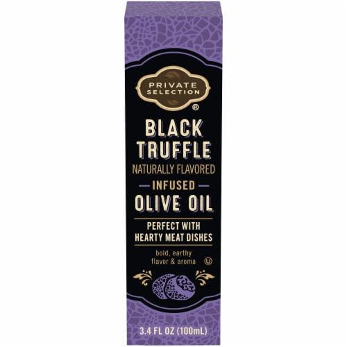 Private Selection™ Black Truffle Naturally Flavored Infused Olive Oil Perspective: front