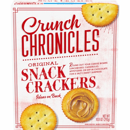 Crunch Chronicles™ Original Snack Crackers Perspective: front