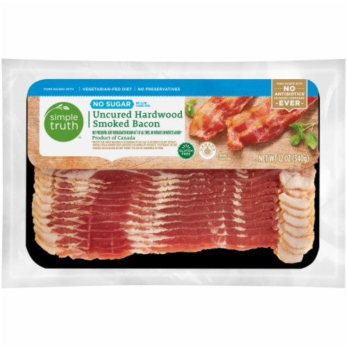 Simple Truth® No Sugar Uncured Hardwood Smoked Bacon Perspective: front