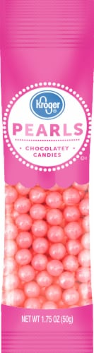 Kroger® Pearls Pink Chocolatey Candies Perspective: front
