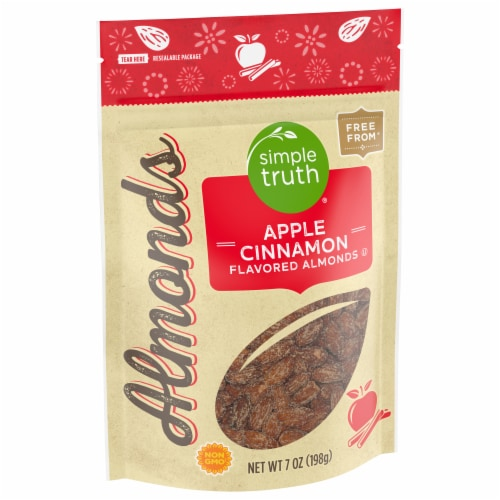 Simple Truth® Apple Cinnamon Flavored Almonds Pouch Perspective: front