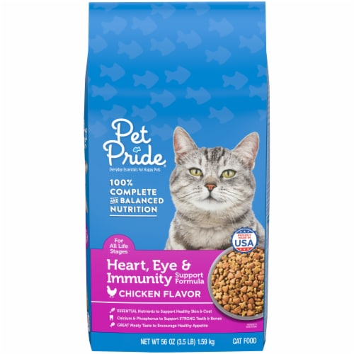 Pet Pride® Heart Eye & Immunity Support Formula Dry Cat Food Perspective: front