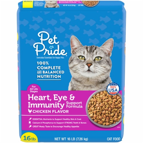 Pet Pride® Chicken Flavor Heart Eye & Immunity Support Formula Dry Cat Food Perspective: front