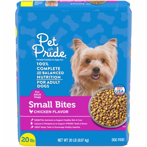 Pet Pride® Small Bites Chicken Flavor Adult Dog Food Perspective: front