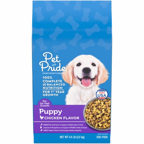 Pet Pride® Chicken Flavor Puppy Food Perspective: front