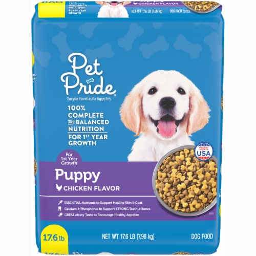 Pet Pride® Chicken Flavor Puppy Dry Dog Food Perspective: front