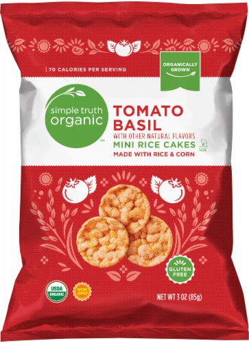 Simple Truth Organic™ Tomato Basil Mini Rice Cakes Perspective: front