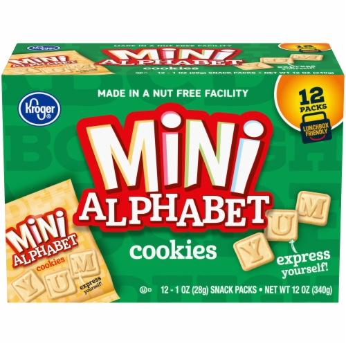 Kroger® Mini Alphabet Cookie Snack Packs Perspective: front