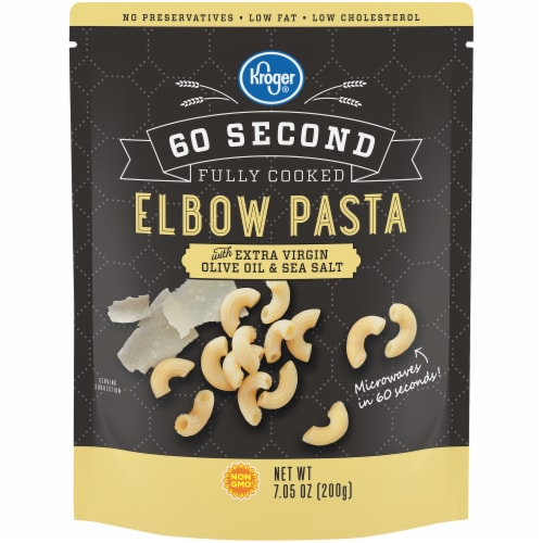 Kroger® 60 Second Fully Cooked Elbow Pasta Pouch Perspective: front