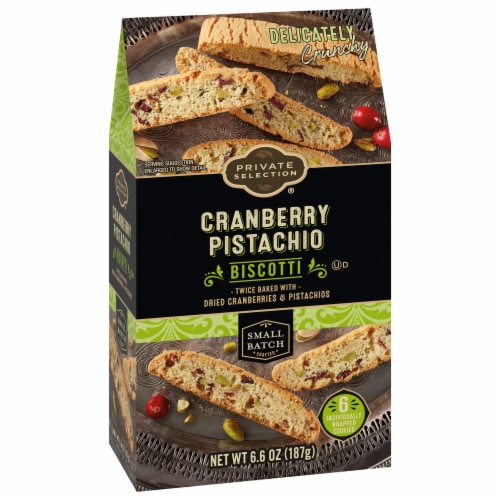 Private Selection® Pistachio Cranberry Biscotti Cookies Perspective: front